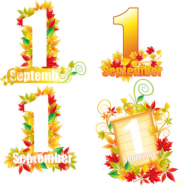 beautiful september autumn design vector