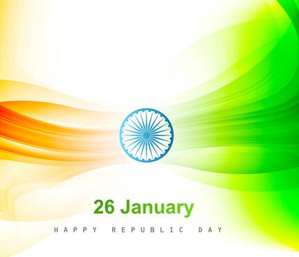 beautiful shiny stylish indian flag wave design