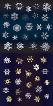 xmas background templates flat snowflakes icons decor