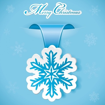 beautiful snowflake label roll angle vector