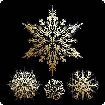 beautiful snowflake pattern 01 vector