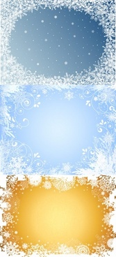 beautiful snowflake photo frame vector