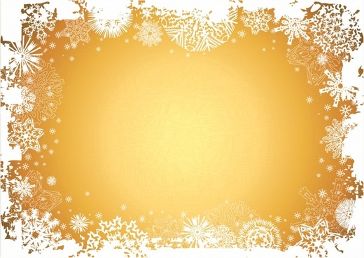 xmas frame template snowflakes decor