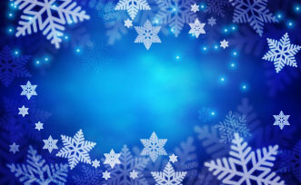 beautiful snowflake with blue background vector