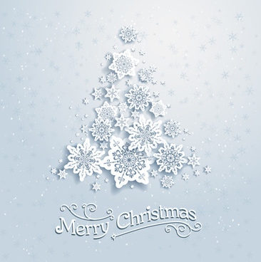 beautiful snowflakes christmas backgrounds vector