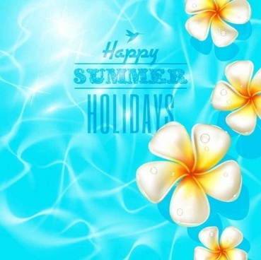 beautiful summer background with flower vector