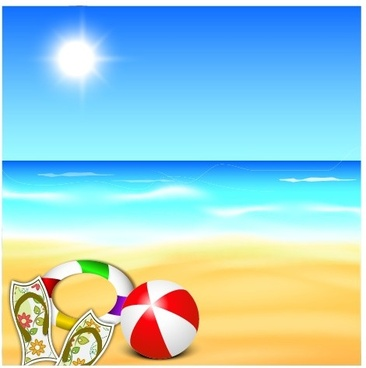 beautiful summer beach background