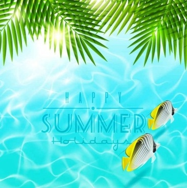 beautiful summer holiday sea background vector