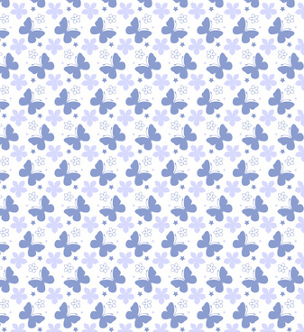 beautiful summer seamless butterfly pattern