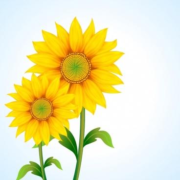 sunflower background bright colored modern design