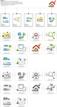 beautiful tag icons 1 vector