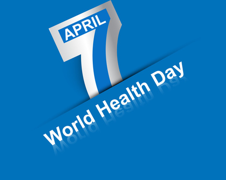 beautiful text 7 april world health day creative background vector
