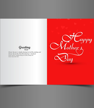beautiful text concept mothers day greeting card vector
