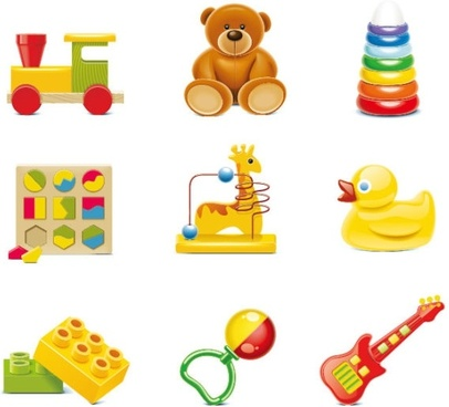 beautiful toys for children 01 vector