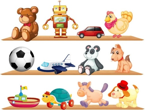 beautiful toys for children 03 vector