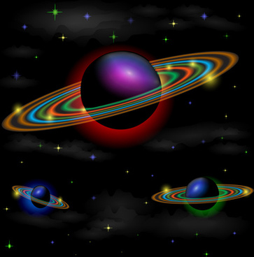 beautiful universe planet background vector