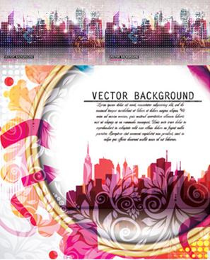 beautiful urban background design vector