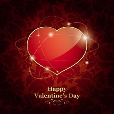 beautiful valentine background vector