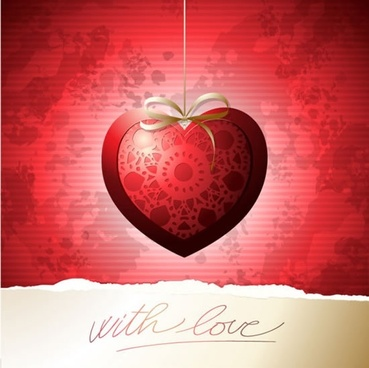 beautiful valentine card vector