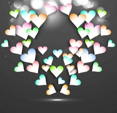 beautiful valentine cards background vector