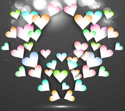 Beautiful valentine cards vector background