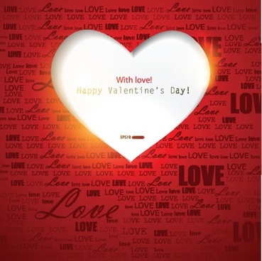 beautiful valentine hearts background vector greeting text