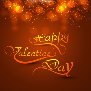 beautiful valentines day heart stylish text design for colorful card vector