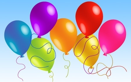 colorful balloons background theme realistic style design