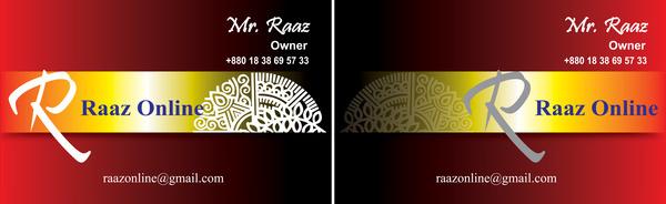 beautiful vector business card