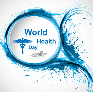 beautiful vector concept medical bright colorful world health day background