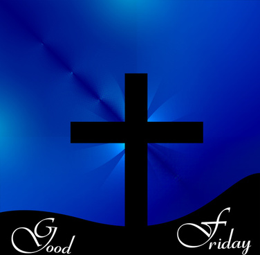 beautiful vector cross for good friday colorful background