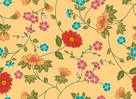 flowers pattern colorful seamless design style