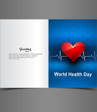 beautiful vector greeting card world health day background illustration