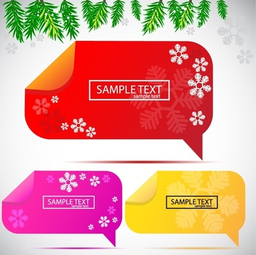 beautiful vector label stickers dialog