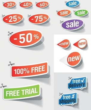 beautiful vector stickers discount sales