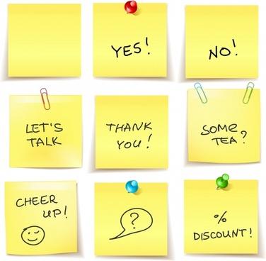 note sticker templates colored modern 3d decor