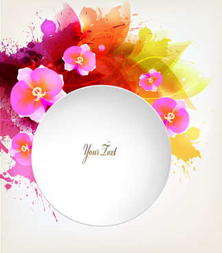 beautiful watercolor floral vector background