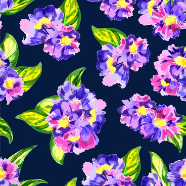 beautiful watercolor flower pattern seamless vector