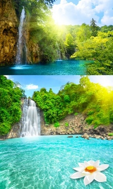 Beautiful Waterfall Flowing Highdefinition Picture 2