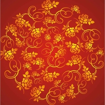 beautiful wealth rose red background vector