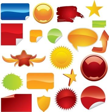 beautiful web20 icon vector