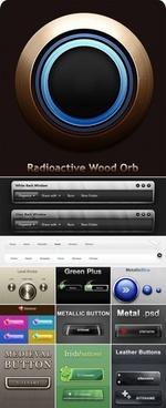 beautiful web design elements psd layered 3