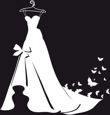 Free Cartoon Wedding Dress Free Vector Download 19980 Free