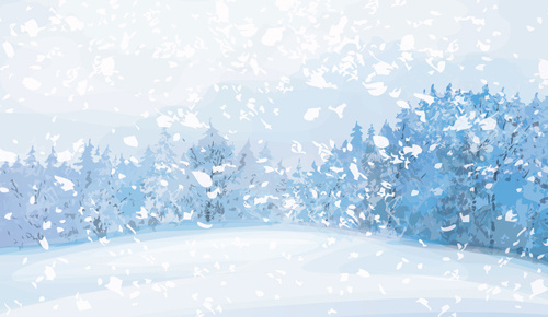 beautiful winter landscapes vector