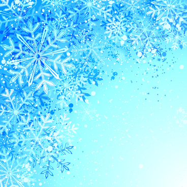 beautiful winter natural vector backgrounds