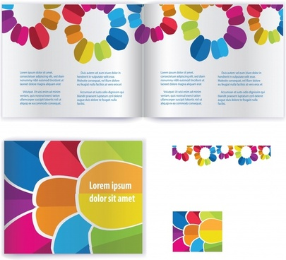 booklet background colorful flat petals decor