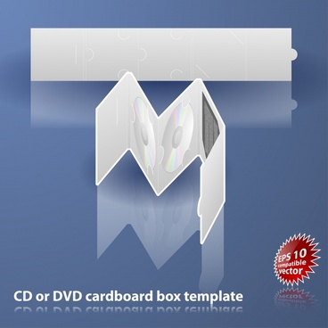 cd package template modern 3d sketch