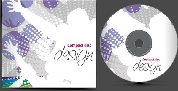cd decor template dynamic bright silhouette decor
