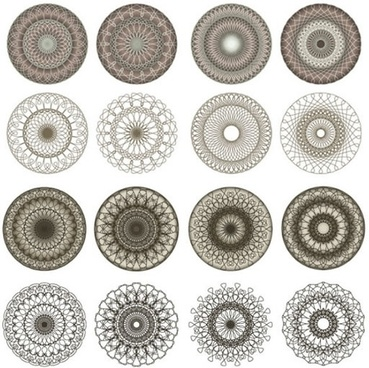 kaleidoscope pattern templates symmetric illusive seamless circles sketch