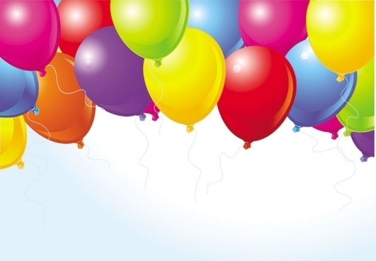 beautifully colored balloons 04 vector